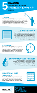 Infographic explains why you should using pure water and poles to clean windows around your home.